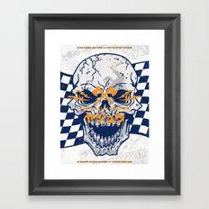 Death Valley Racers (Navy Orange) Framed Art Print