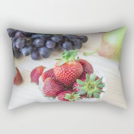 Fresh fruits. Healthy food. Mixed fruits are grapes, pears, peaches, strawberries. eat, diet, like f Rectangular Pillow