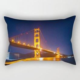 Golden Gate Bridge Night Rectangular Pillow