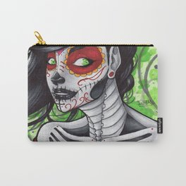 Day of the Dead Bust  Carry-All Pouch