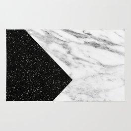 Ebony marble geo Rug