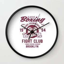 Classic Boxing Wall Clock