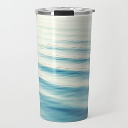 Ocean Waves Blue Photography, Aqua Water Sea Seascape Photo, Teal Beach Coastal Abstract Waves Travel Mug