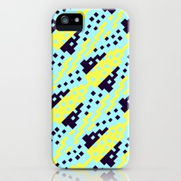 Chocktaw Geometric Square Cutout Pattern - Electric Ray iPhone Case