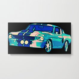 Shelby Mustang Pop Art Metal Print