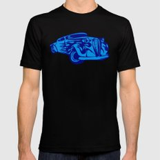 Retro Car - Digital Work MEDIUM Black Mens Fitted Tee