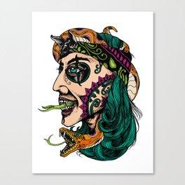 Snake Girl Canvas Print