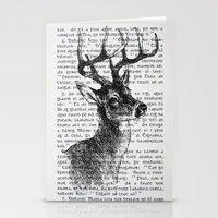 irish Stationery Cards featuring Irish Deer by CrowBiz