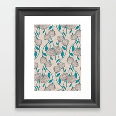 Blue Stem Flowers Framed Art Print