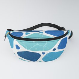 drylands in cool blues Fanny Pack