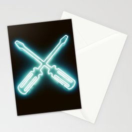 Neon Screwdrivers Stationery Cards
