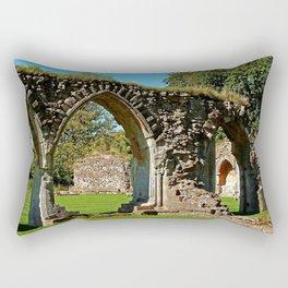 Hailes Abbey ruins. Rectangular Pillow