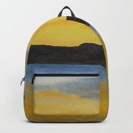 Sunset At Stavanger - Norway / Watercolor Painting Backpack