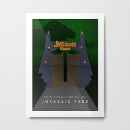 JURASSIC PARK - MINIMALIST Metal Print