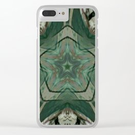 The Green Unsharp Mandala 2 Clear iPhone Case