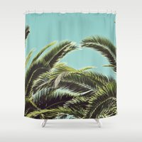 palms Shower Curtains featuring Palms by Lawson Images