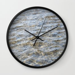 Waves Over Sand Wall Clock