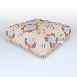 Blue Retro Tile Outdoor Floor Cushion