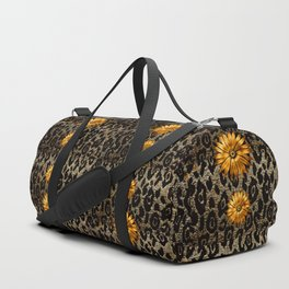 Animal Print Cheetah Triple Gold Duffle Bag
