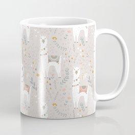 Sweet Llama on Gray Coffee Mug