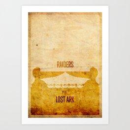 Raiders (aged) Art Print