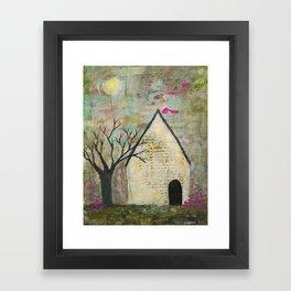 Little house of words Framed Art Print