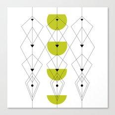 50ies Green Canvas Print