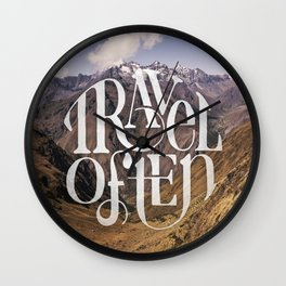 Travel to the Mountains Wall Clock