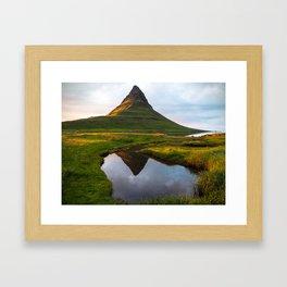Kirkjufell Reflection Framed Art Print
