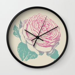 rosa rosae rosarum Wall Clock