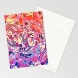 Summer Sunset Abstract - Purples and Reds Stationery Cards