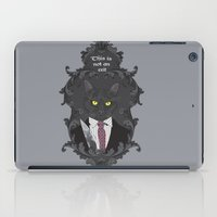 american psycho iPad Cases featuring American Psycho Kitty by Elisabeth Acerbi