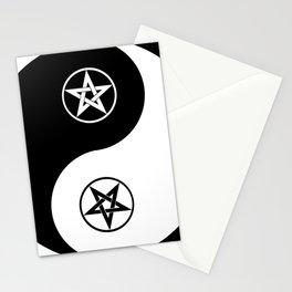 Yin Yang Pentagram Pentacle Stationery Cards