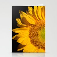 sunflower Stationery Cards featuring sunflower by mark ashkenazi