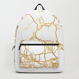HONG KONG CHINA CITY STREET MAP ART Backpack