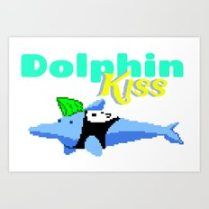 Dolphin Kiss Art Print