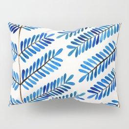 Blue Leaflets Pillow Sham