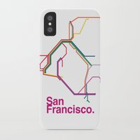 san francisco map iPhone & iPod Cases featuring San Francisco Transit Map by Ariel Wilson