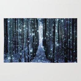 Magical Forest Teal Indigo Elegance Rug