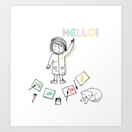 Little Artist Art Print
