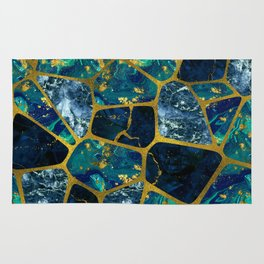 Voronoi diagram Gold Gemstone texture Rug