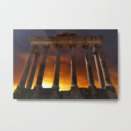 Temple of Saturn Ruins Metal Print