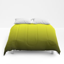 Cats Eye Yellow and Black Deadly Ombre Nightshade Comforters