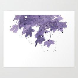 Anemone Watercolor Shadows Art Print