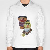sesame street Hoodies featuring Sesame Street Bert and Ernie by ArtSchool