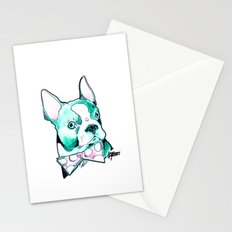 Bow Tie BostonTerrier Stationery Cards