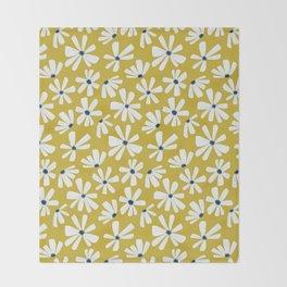 Retro Blooms Throw Blanket