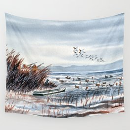 Duck Hunting For Canvasbacks Wall Tapestry