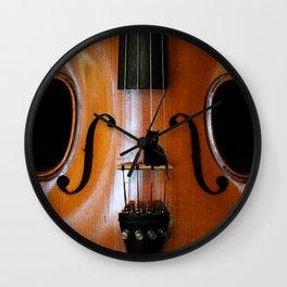 Black Cat And Violin #decor #society6 Wall Clock