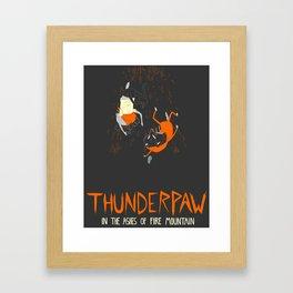 It Was Just Thunder Framed Art Print